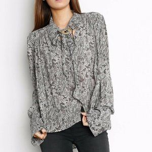 FREE PEOPLE Modern Muse Blouse Grey - S [No Tie]